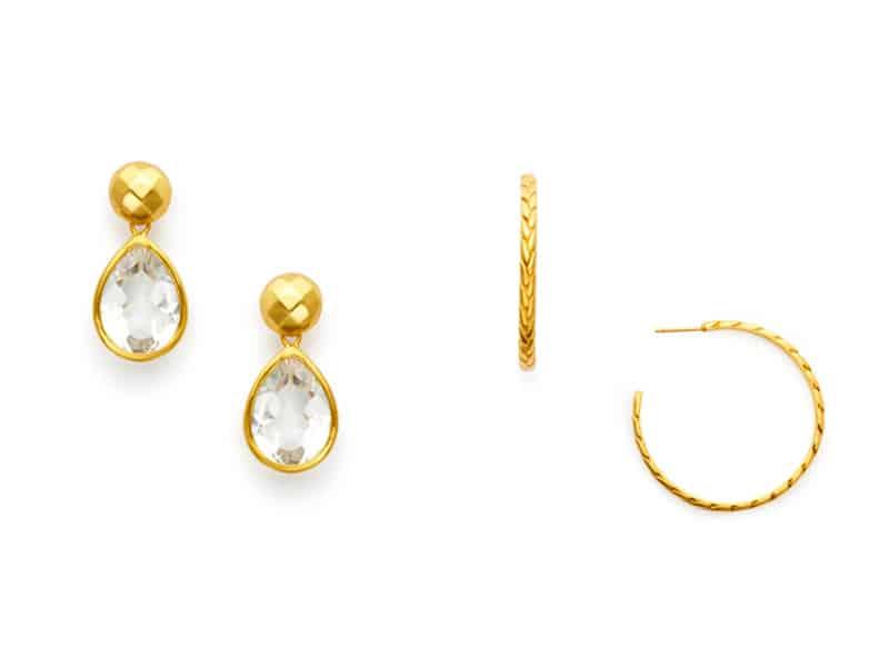 Drop Earrings and Hoop Earrings from Julie Vos