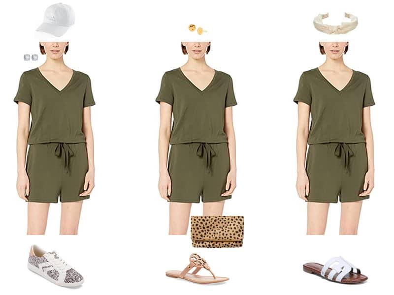 How to wear a Romper 3 Ways