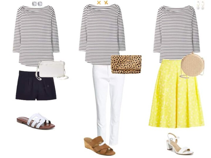 Striped Top Outfits: How to Wear a Striped Top Three Ways