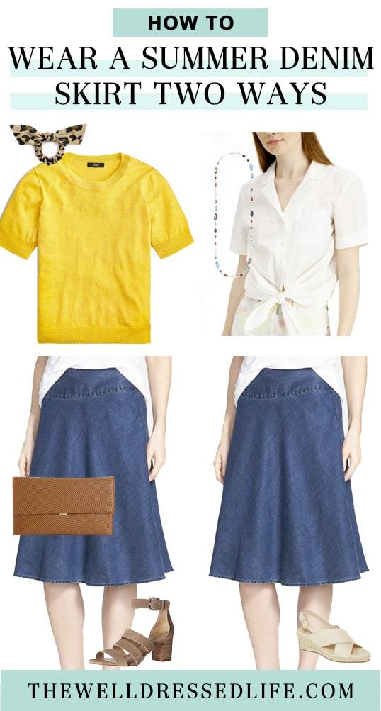 Summer Denim Skirt Two Ways