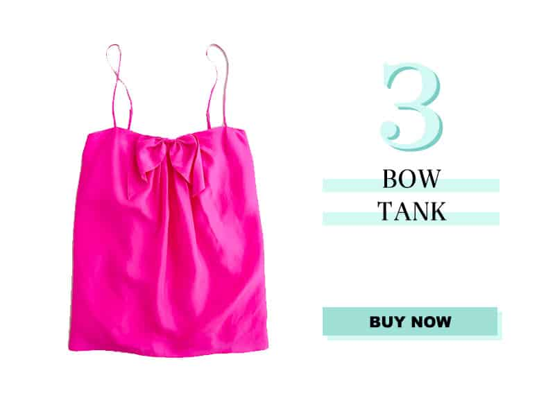 J. Crew Silk Bow Tank