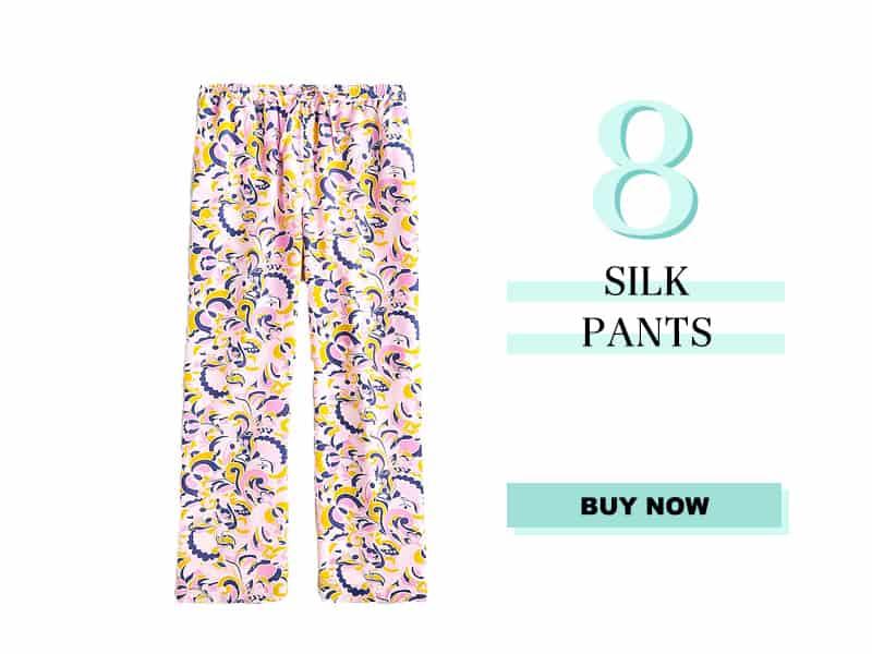 J. Crew Silk Pants