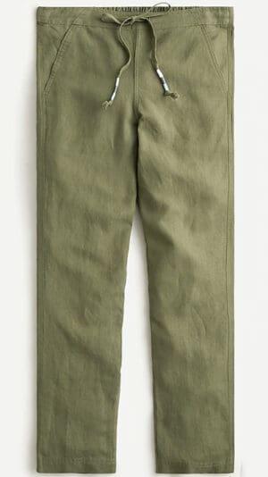 J. Crew Tie-waist seaside pant in linen blend