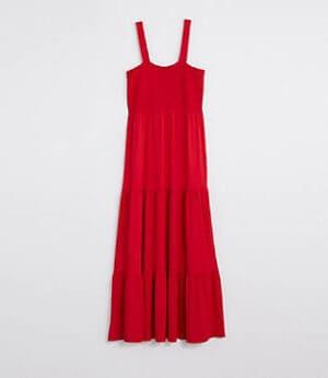 LOFT Smocked Tiered Maxi Dress