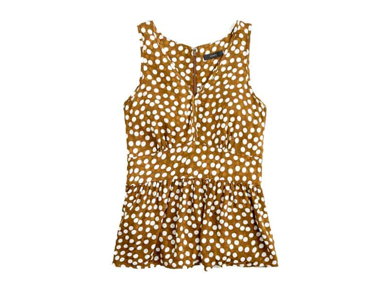 How to wear a polka dot top two ways