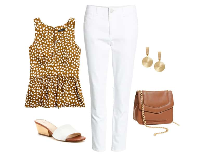 How to wear a polka dot top in the summer