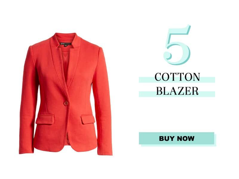 Gibson Cotton Blend Blazer in Red
