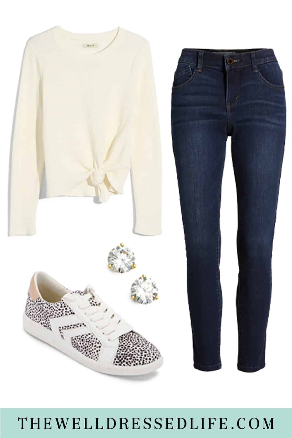 Work-from-Home Outfit: Tie Front Top and Jeans