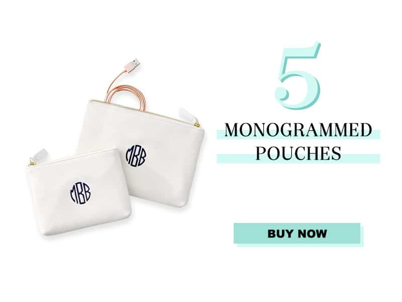 Monogrammed Pouches