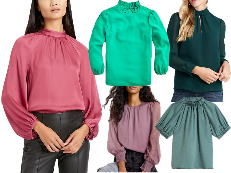 five work blouses