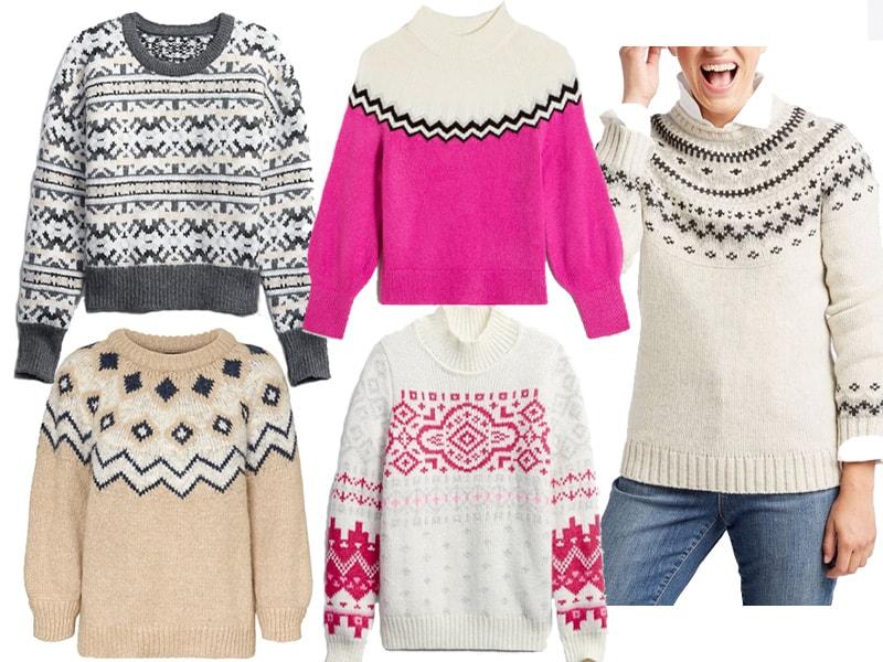 5 Fair Isle Sweaters