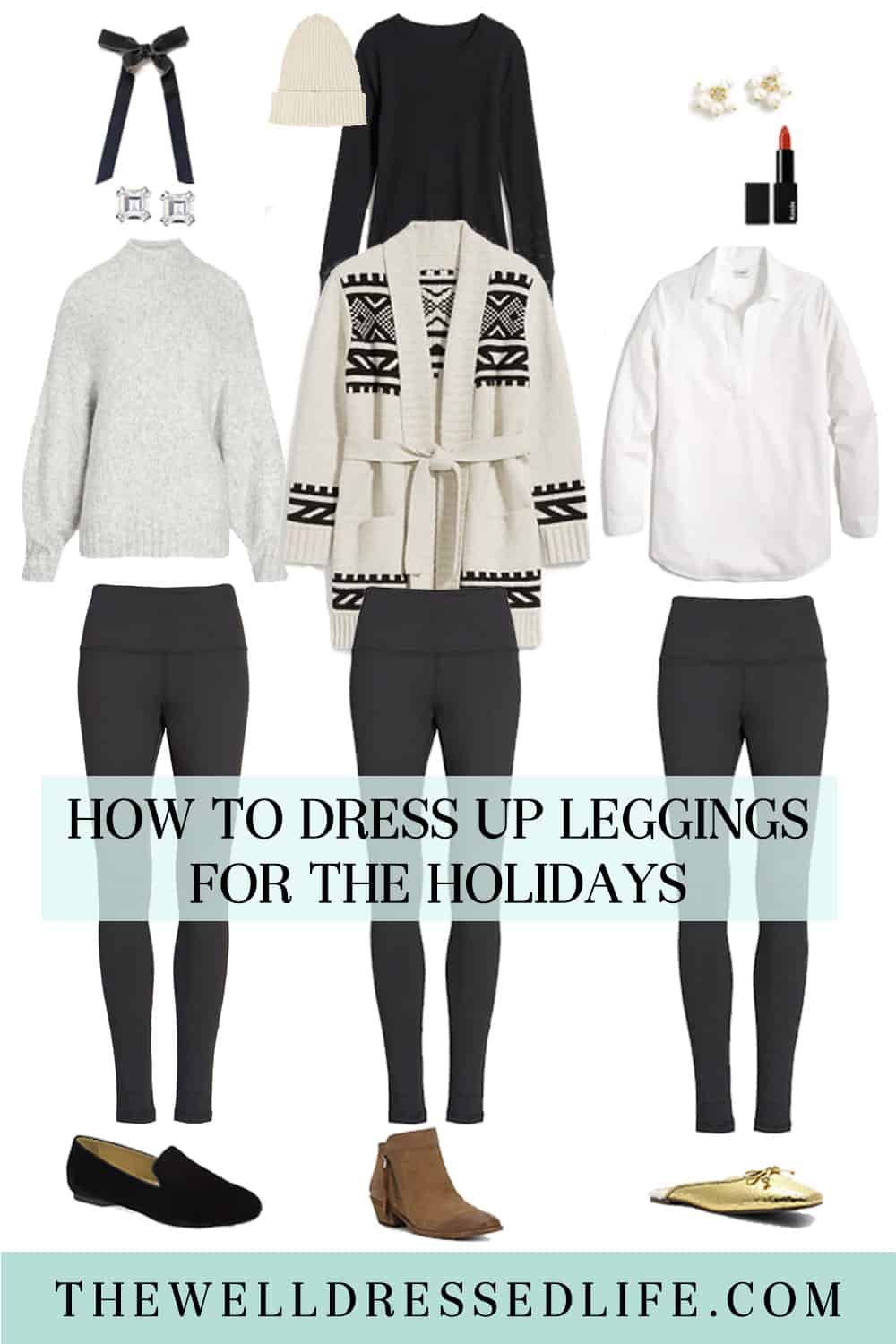 How to Dress Up Leggings for the Holidays