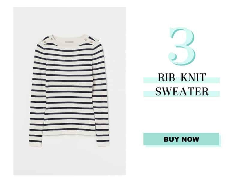 H&M Rib Knit Sweater