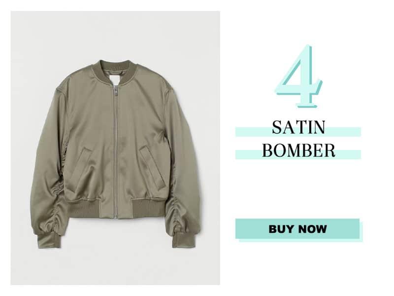 H&M Satin Bomber