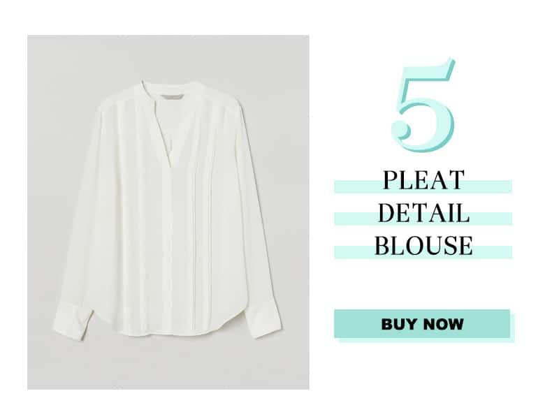 H&M Pleat Detail Blouse