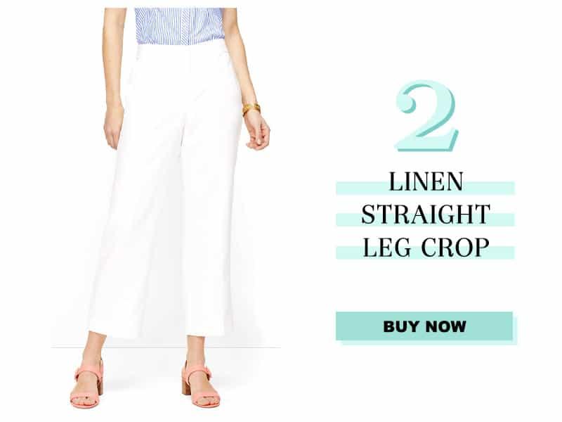 Talbots Linen Straight Leg Crop