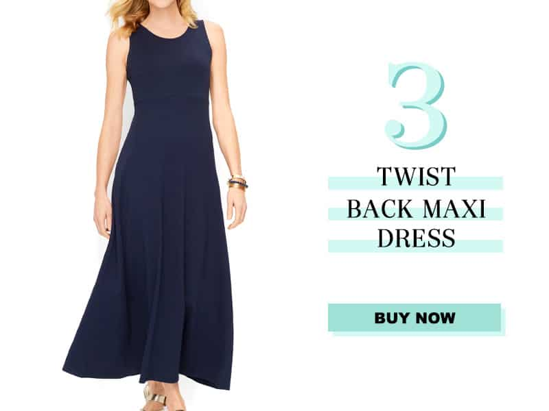 Talbots Twist Back Maxi Dress