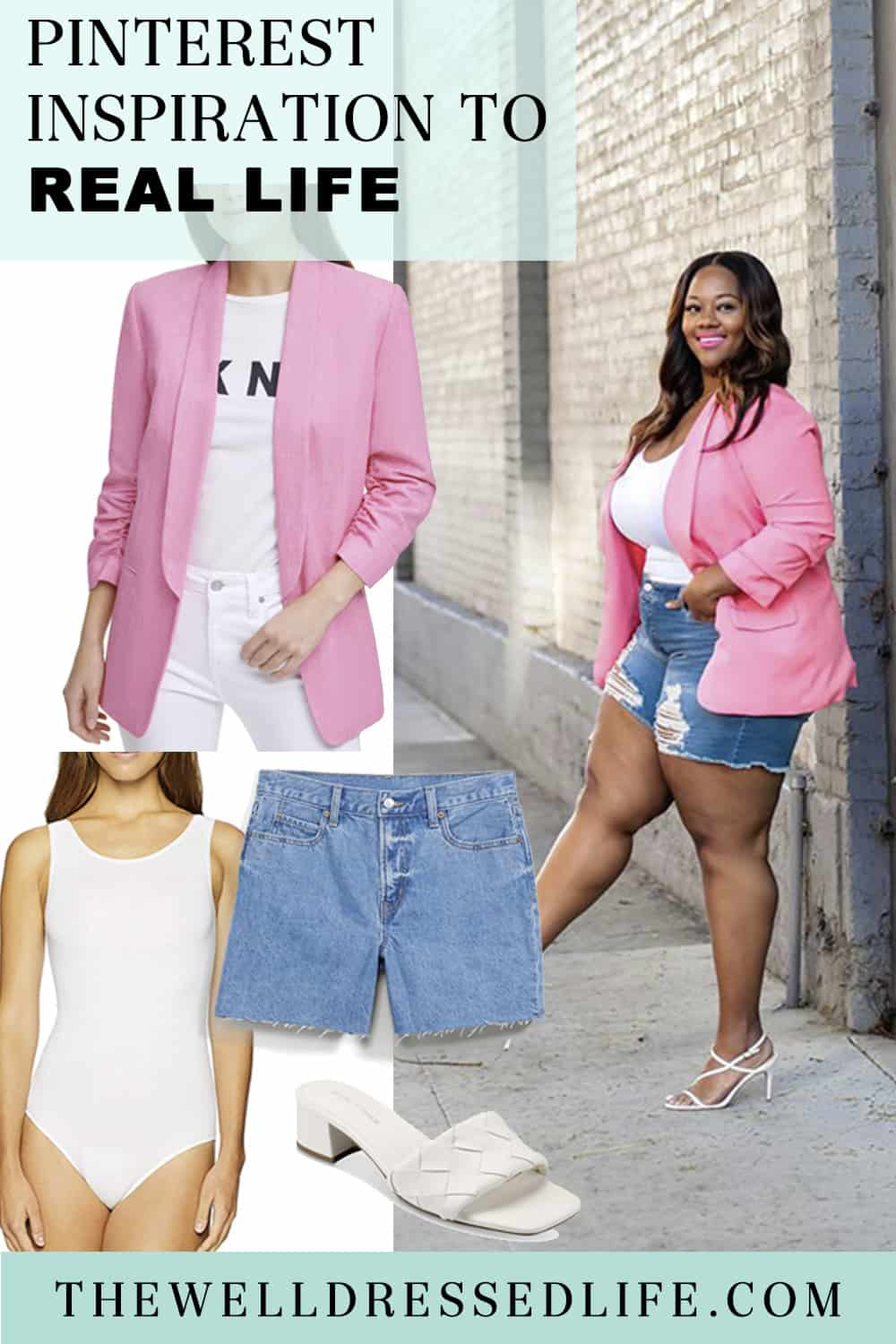 Pinterest in Real Life: Shorts and a Blazer