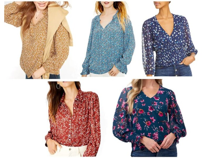 5 Fall Floral Blouses Under $100