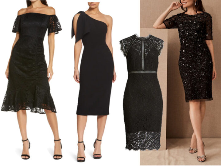 Four Not-so-Basic black special occasion dresses
