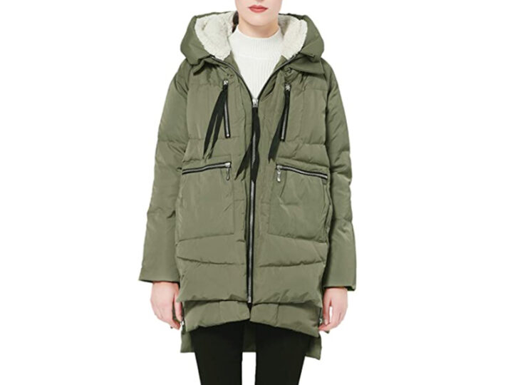 Orolay Women's Thickened Down Jacket in Olive