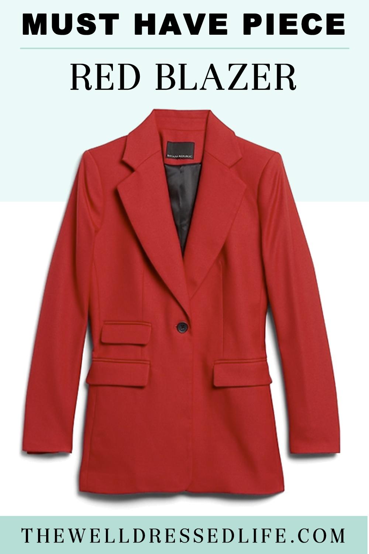 Must Have Piece: Red Blazer